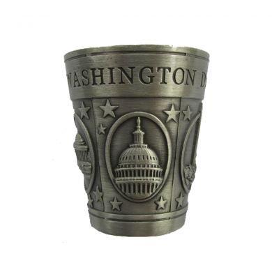 Washington D.C. Pewter Shot Glass