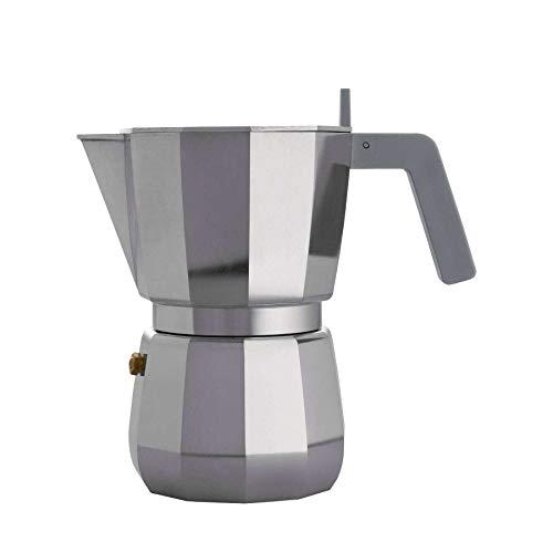 Alessi DC06/6 Cafetera expreso, aluminio