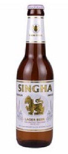 Singha Bier - 24er Pack (24 x 330ml) - Preis für 24 Flaschen und Kasten inkl. Pfand