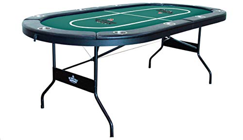 Hot Hand Poker Supply | Water-Resistant Speed Felt | 10 Player Folding Poker Table | Portable | Easy Storage | No Assembly Required | 84