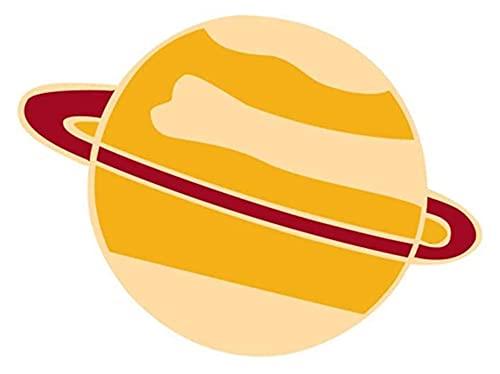 Lzpzz Creativo lindo planeta alfileres broche joyería ropa bolsas mochilas chaqueta insignia accesorios, amarillo práctico y popular