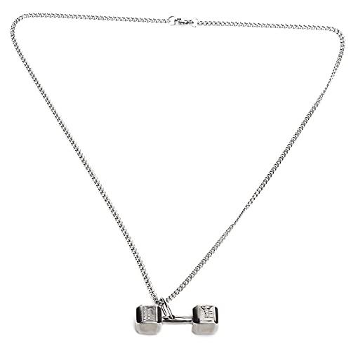 Collar de bisutería, Exquisito Collar con Nombre Resistente al Desgaste para Mujer para Fiestas para Bares para Dama(Steel Color Matching Chain)