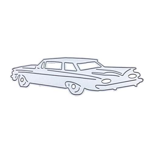 Troqueles de corte de metal para manualidades, álbumes de recortes, tarjetas de papel, tarjetas de corte de acero al carbono para coche, bricolaje, álbumes de recortes, tarjetas de papel, plantillas para hacer plantillas, color plateado