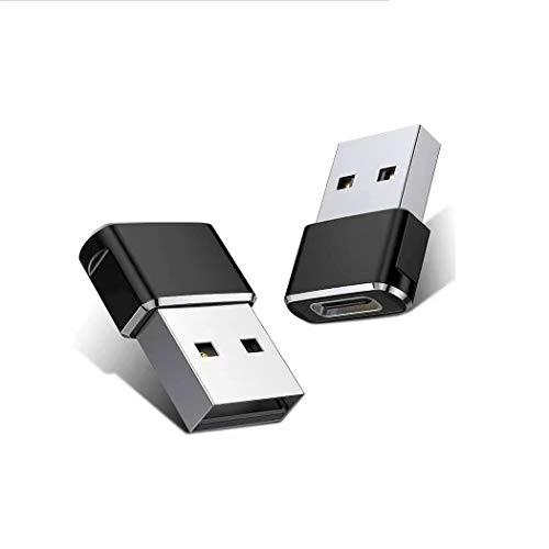 INVID 2 adaptadores USB C hembra a USB, adaptador USB C a USB para Apple iPhone 12 Pro, adaptador para fuente de alimentación USB C, cargador USB tipo C, USB a USB C, cable de carga para iPhone 12