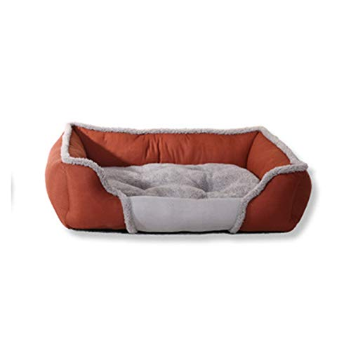 JINSUOZY DXXLD - Cama de perro lavable para mascotas (color: marrón, tamaño: XL 80 x 60 x 17 cm)