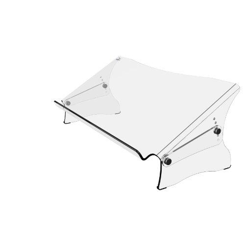 Dataflex 49.410 Addit ErgoDoc Dokumentenhalter, Höhenverstellbar von 160-235 mm in 6 Schritten, transparent