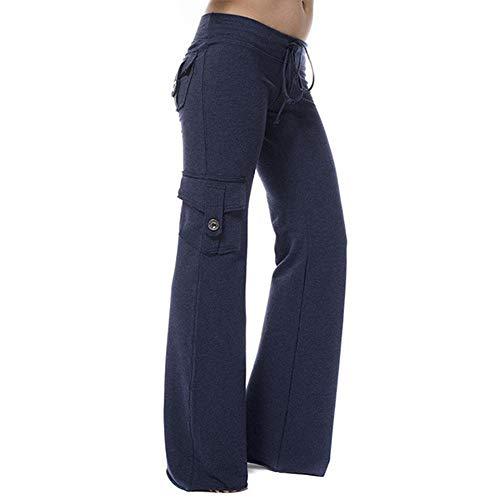 Dihope yogabroek, brede pijpen, harembroek voor dames, Aladdin Stretch Casual Capri Harem joggingbroek, elastisch, hoge taille