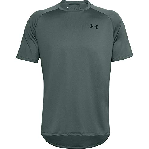 Photo of Under Armour UA Tech 2.0 Short Sleeve Tee, Light and Breathable Sports T-Shirt, Gym Clothes With Anti-Odour Technology Men, (Lichen Blue/Black(424)), XXL