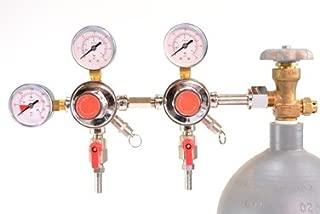 Brewin Dual Body Secondary CO2 Draft Beer Dispensing Regulator
