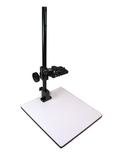 Albinar 23 inch High Copy Macro Stand with 14 inch x 16 inch Base, Quick Release Mount and Bubble Level