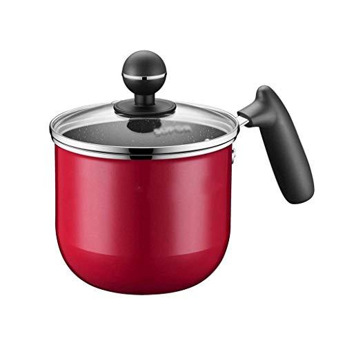 IUYJVR Olla para Sopa de Leche de la Serie Camouflage, 14 cm de diámetro, Adecuada para Horno eléctrico, Estufa de Gas, Estufa eléctrica de cerámica (Color: Rojo)