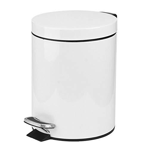 Poubelle, poubelle poubelle poubelle poubelle blanche étape poubelle, poubelle maison pour chambre à coucher poubelle en acier inoxydable pour poubelle de bureau