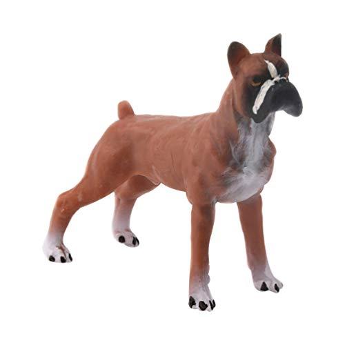TOYANDONA Miniatuur Hond Beeldjes Ornamenten Solide Dieren in Het Wild Model Bos Feestartikelen Voor Fee Tuintafel Home Decoraties Kinderen Speelgoed Boxer Hond