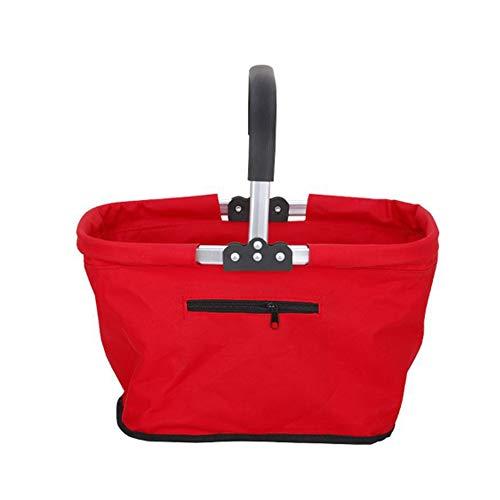 BABI Opvouwbare winkelmand, Stabiel Opvouwbare picknickmand met grote capaciteit met zijvak, opvouwbaar winkelen Groot Voor winkelen of kamperen