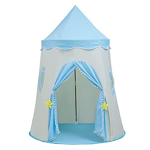 Tiendas de Niños Los Niños Juegan Carpa, Tienda De Picnic Portátil Al Aire Libre, Castillo Privado del Juego De Los Niños Interiores, Fácil De Instalar (Color : Blue, Size : 110x150cm)