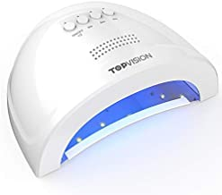 UV LED Nail Lamp, TOPVISION 48W/24W Disassembly Magnetic Baseboard Nail Dryer with 24pcs LEDs Light & 30s/60s/90s Timer Setting & Auto Sensor for Gel Polish Salon