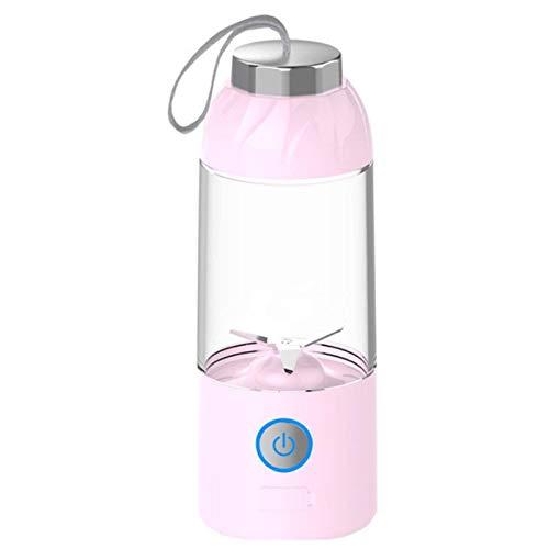 N-B Licuadora portátil con USB recargable Mini batidora de zumo de frutas, tamaño personal licuadora para batidos y batidos, mini exprimidor taza de viaje 550 ml, jugo de frutas y leche