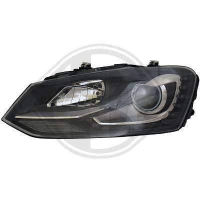 2206786 koplamp daylight DRL LED zwart voor Polo 6R van 2009 tot 2014