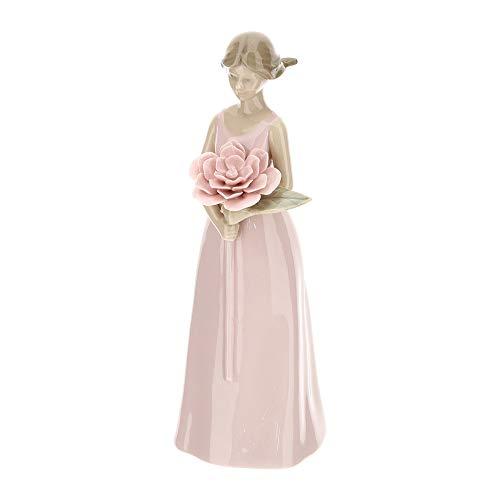 Hervit Statuetta SVEVA Porcellana Rosa H21 cm 28356
