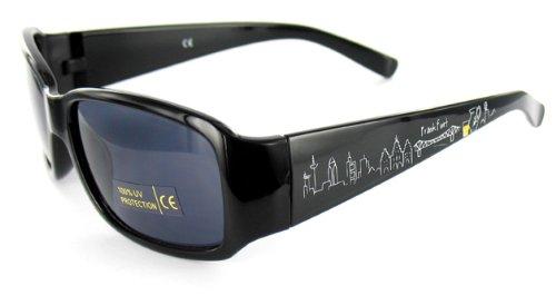 die stadtmeister Sonnenbrille Skyline Frankfurt mit passendem Etui - als Geschenk für Frankfurter & Fans der Mainmetropole oder als Frankfurt Souvenir