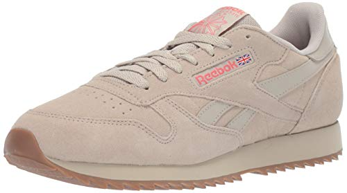 Reebok Herren Classic Leather Turnschuh, Light Sand/Rose/Lee, 37 EU