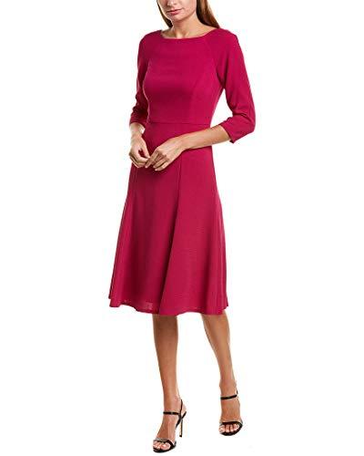 Eliza J Women's 3/4 Sleeve Fit and Flare Dress, Fuchsia, 12