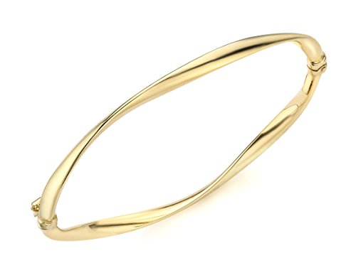 Carissima Gold 9ct Yellow Gold Twist Tube Bangle