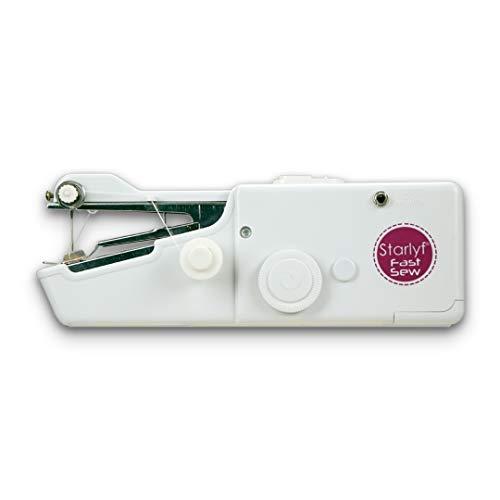Best Direct Starlyf Original como se ve en la TV Fast Sew Mini máquina de coser, bolsillo portátil, práctico y fácil para ropa, sábanas, bufandas y cortinas.