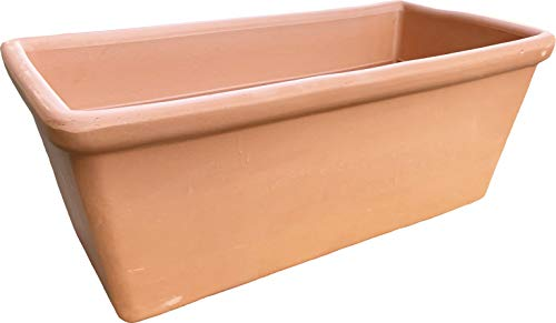 Maceta Barro Terracota Natural Alargada - Jardinera Barro Rectangular (nº 60 - 61 x 21 x 17 cms)