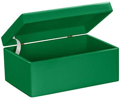 LAUBLUST Große Holzkiste mit Deckel - 30x20x14cm, Grün, FSC® | Allzweck-Kiste aus Holz - Aufbewahrungskiste | Spielzeug-Truhe | Erinnerungsbox | Geschenk-Verpackung | Deko-Kasten zum Basteln
