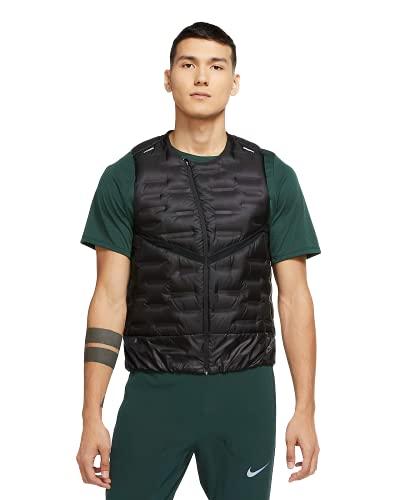 Nike Men's Aeroloft Black Sleeveless Running Vest (Small)