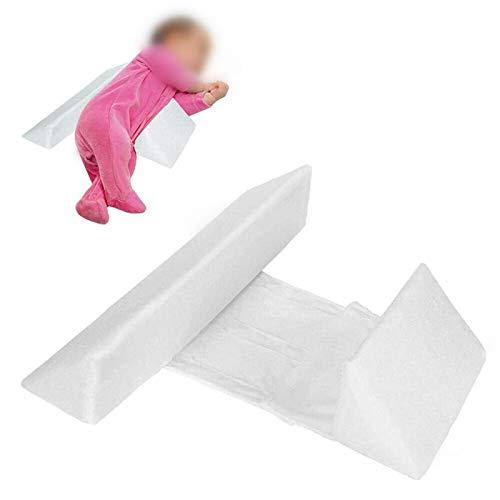 wgkgh Almohada para Dormir del Lado del bebé Ajustable,Almohada estereotipada,Cabeza Anti-excéntrica, Leche Anti-escupidas, Almohadilla para Dormir para recién Nacidos extraíble y Lavable Blanco