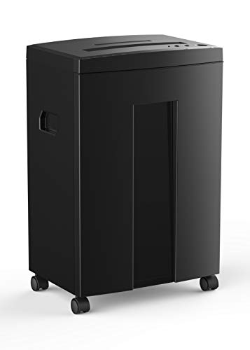 WOLVERINE 10-Sheet Super Micro Cut High Security Level P-5 Heavy Duty Paper/CD/Card Ultra Quiet Shredder for Home Office by 40 Mins Running Time and 6 Gallons Pullout Waste Bin SD9112 (Black ETL)