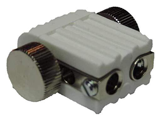 Lichtidee 8 x Led Lampenfassung Lampenhalter weiß für Stabspot für GX5,3 12 Volt Led oder Halogen Seilspots Seilsystem