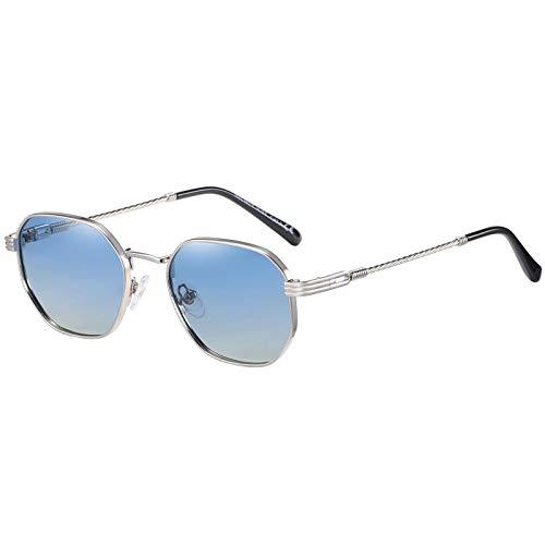H HELMUT JUST Gafas de Sol para Mujer y Hombre Hexagonales Polarizadas Lentes Pequeñas Retro