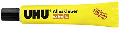 UHU Alleskleber Extra Tube, Gel-Form für extra starkes und tropffreies Kleben, 18 g