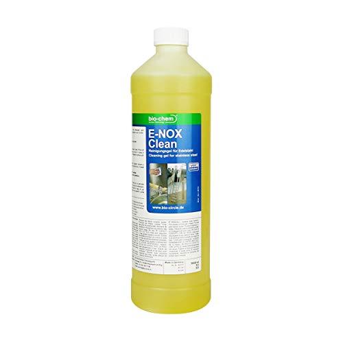 bio-chem E-NOX Clean Edelstahlreiniger Gel 1000 ml Entfernt Kalk Rost von Edelstahl
