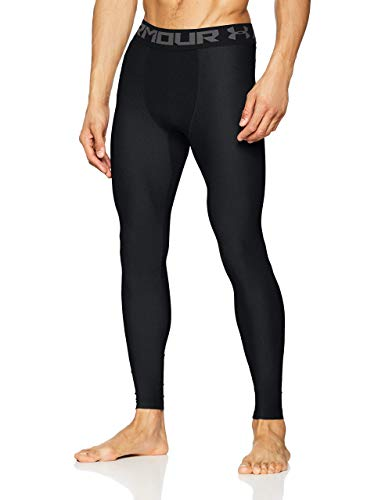 Under Armour Heatgear 2.0 Leggings, Hombre, Negro (Black/Graphite (001), XL