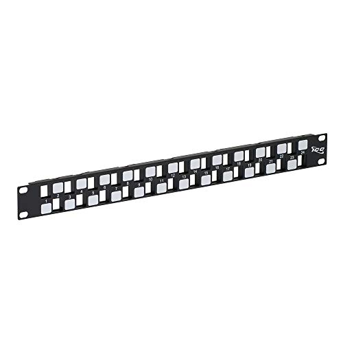 ICC Blank Patch Panel with 24 Ports EZ/HD Style in 1 RMS