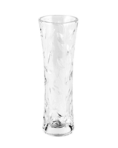 RCR Laurus Crystal Glass Decorative Flower Vase, 8''