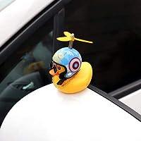 ヘルメットプロペララバーウインドブレーカーダックスクイーズ健全な内部車の装飾子供の子供のおもちゃ、色の名前でかわいい黄色いアヒル:2 (Color : 7)