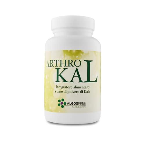 ALGOSFREE - Arthro-Kal | Polvere 100% organica e pura di cavolo nero (kale), con alti contenuti di carotenoidi, quercetina e omega 3 con potere coadiuvante anti-ossidante | 90g