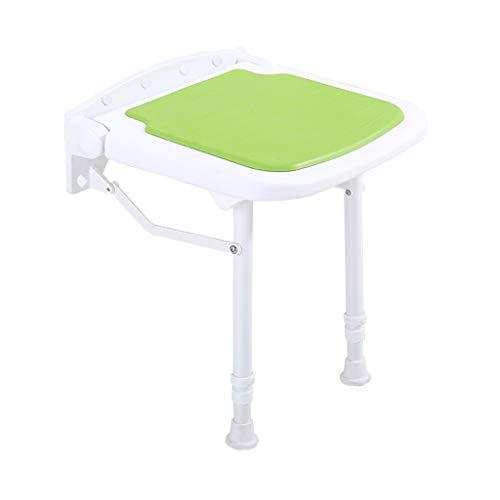 Taburete de ducha plegable para montar en la pared, asiento de ducha, asiento de baño ligero para personas mayores, ayuda a las personas con discapaci