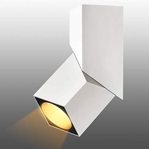 Budbuddy 12W Foco LED Lámpara de techo LED Luz de techo led Plafón con Focos Orientable 3000K COB luz blanco cálido Foco Giratorios Lámpara Focos de techo LED