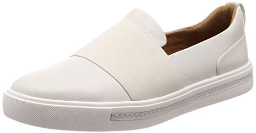 Clarks Damen Un Maui Step Slipper, Weiß (White Leather), 41.5 EU