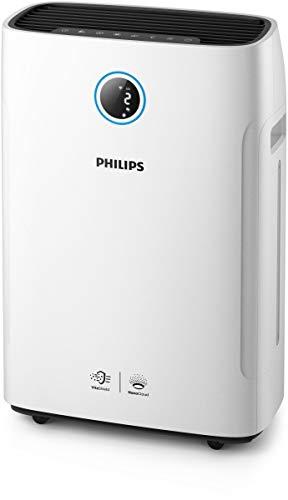 Philips AC2729/10 2-in-1 Luftreiniger und -befeuchter Series 2000i entfernt bis zu 99,9% der Viren und Aerosole* aus der Luft (App-Anbindung, bis zu 60m²) weiß