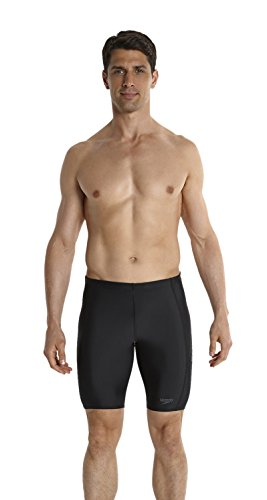 Speedo Sports Logo Jammer Bañador de Competición Largo, Negro (Black/Usa Charcoal), 38