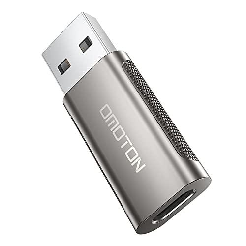 OMOTON Adattatore USB C a USB 3.1 Adattatore USB C Femmina a USB A Maschio Compatibile con iPhone 12/11,Oculus Quest/Quest2,Windows, Macbook, MacOS, Android, iPad Pro, Cuffie di type-C
