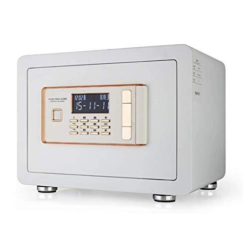 WangJUNXIU Het veilig, wachtwoord en sleutel zijn ingeschakeld, voor hetzelfde tijd, klein 25 cm, draagbare anti-diefstalbeveiliging, met dual intelligent alarmsysteem, vuurbestendig kluis wit