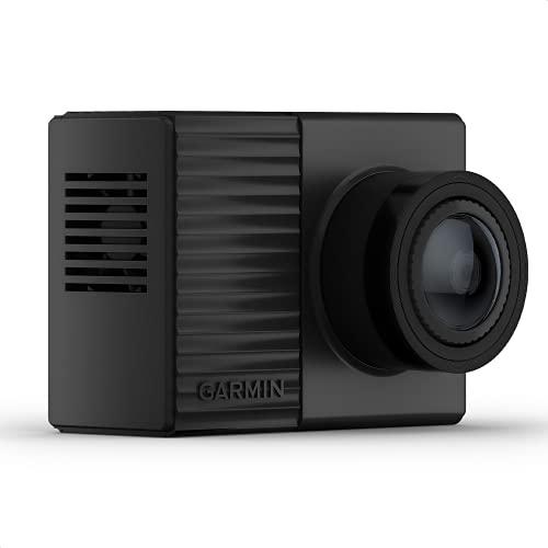 Garmin Dash Cam Tandem mit 2 x 180° Linsen für Rundumaufnahmen, Frontlinse mit 1440p, ultrakompakt, automatische Unfallerkennung, Nachtsicht mit 720p, GPS, WLAN, inkl. Speicherkarte, Sprachsteuerung
